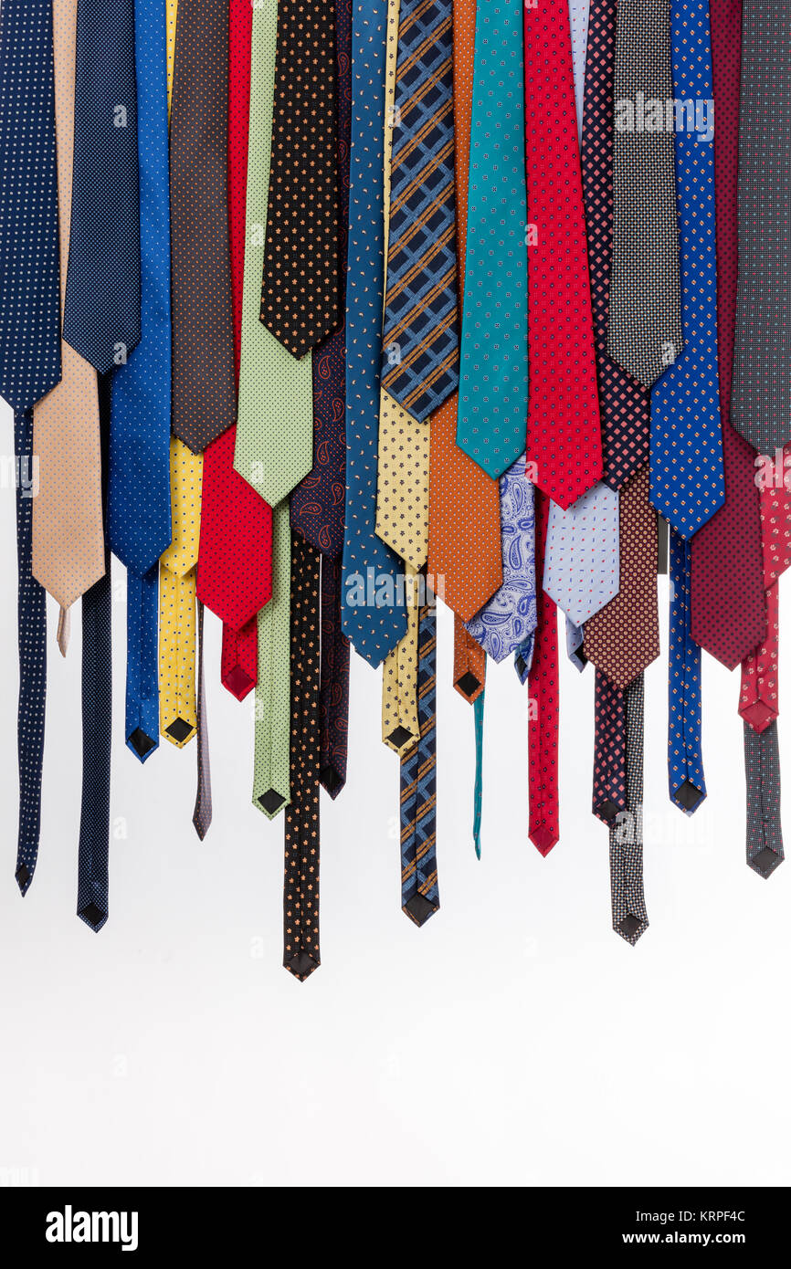 colored ties - Stock Image