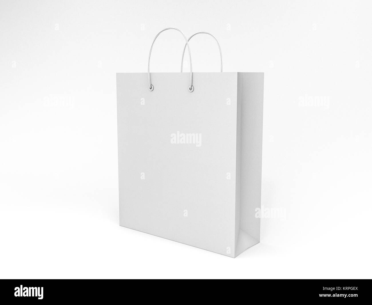 Empty Shopping Bag for advertising and branding. 3D rendering - Stock Image