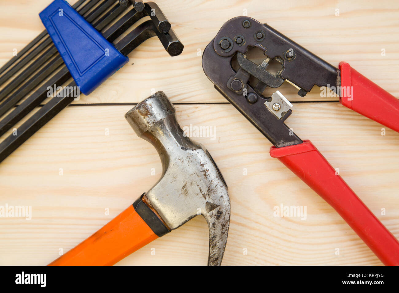 The House Of Hammer renovating a house. a set of repair tools- hex keys, a