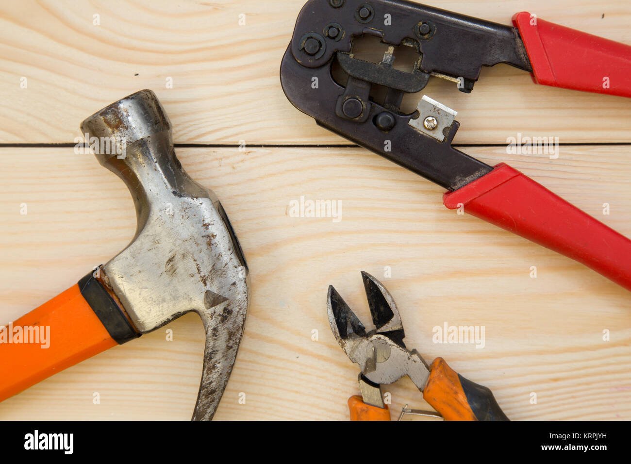 The House Of Hammer repairing a house. a set of repair tools- a hammer and