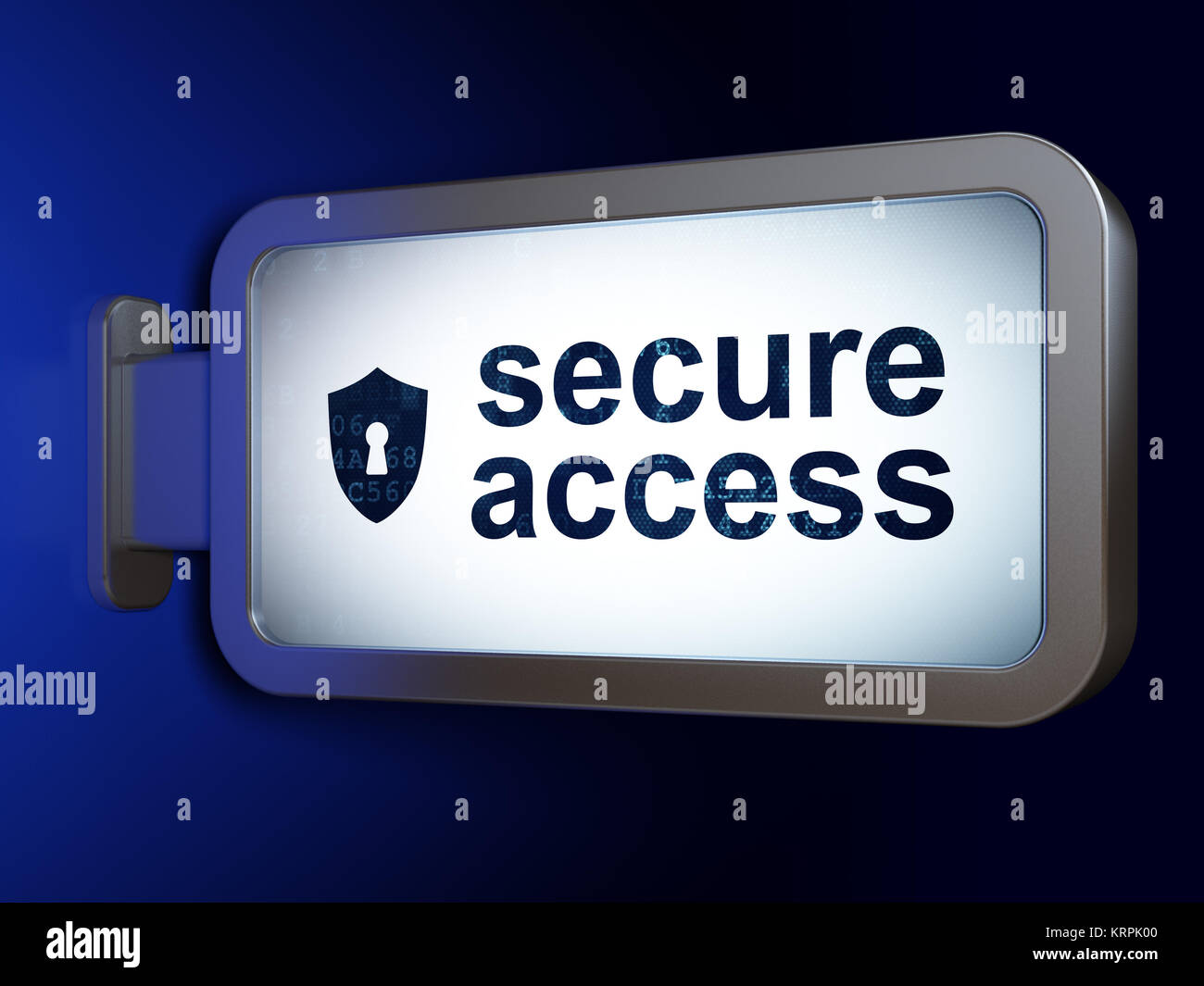 Privacy concept: Secure Access and Shield With Keyhole on