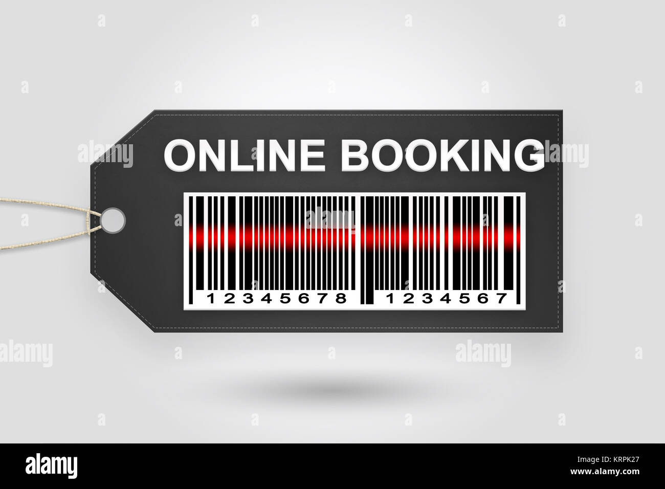 online booking price tag - Stock Image