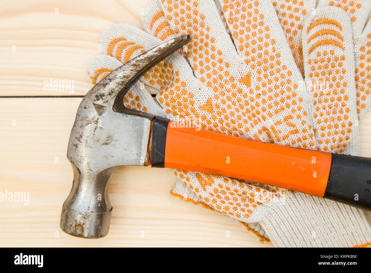 Repairing and construction concept. Tools for house repair- a hammer ...