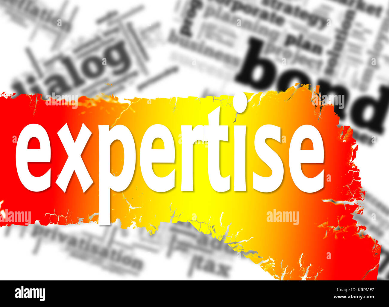 Word cloud with expertise word - Stock Image