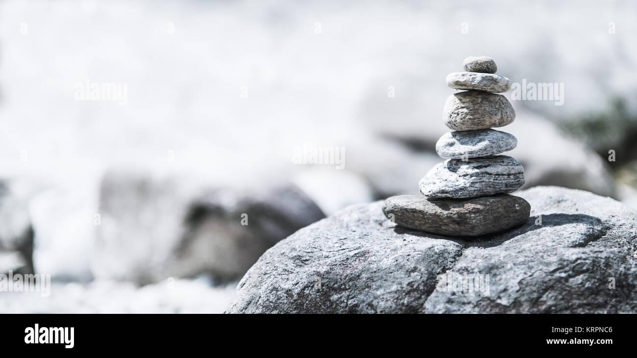 zen stones - Stock Image