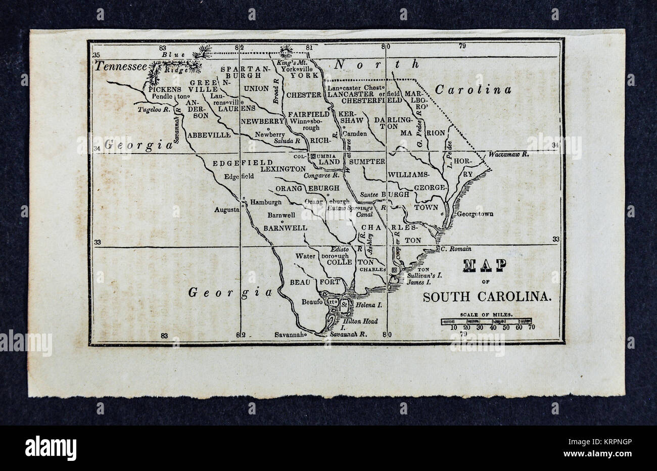 Vintage South Carolina Map.Vintage South Carolina Map Stock Photos Vintage South Carolina Map