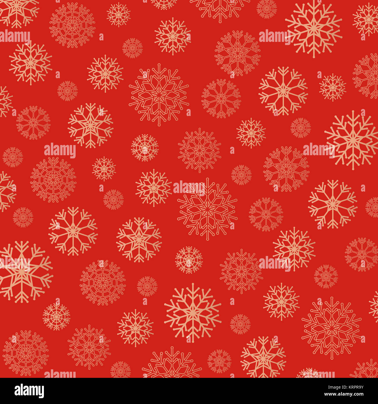 Gorgeous snowflakes background in golden and red Stock Photo
