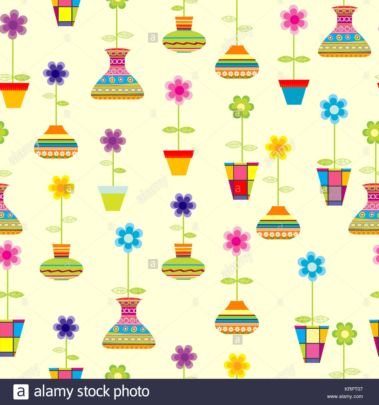 Illustration Cartoon Flower Pot Stock Photos Illustration Cartoon