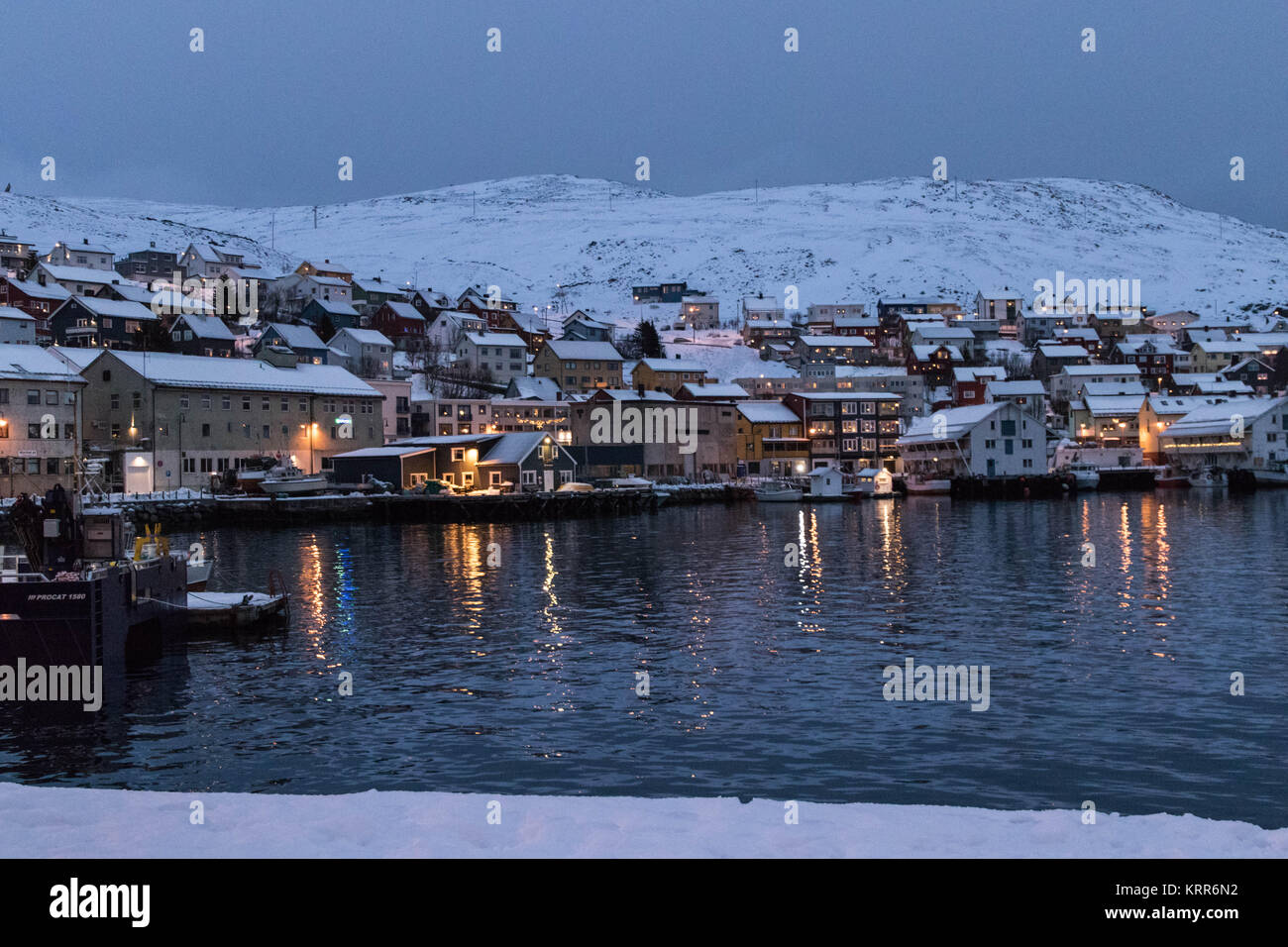 Honningsvag, Norway - Stock Image