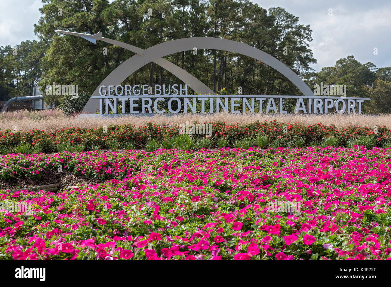 Houston, Texas - The entrance to George Bush Intercontinental Airport. - Stock Image