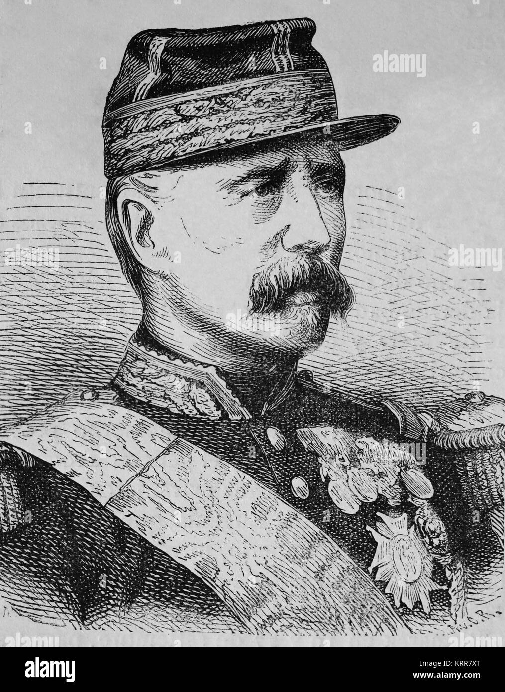 Patrice de MacMahon, Duke of Magenta (1808-1893). French general and politician. Engraving, 1883. - Stock Image