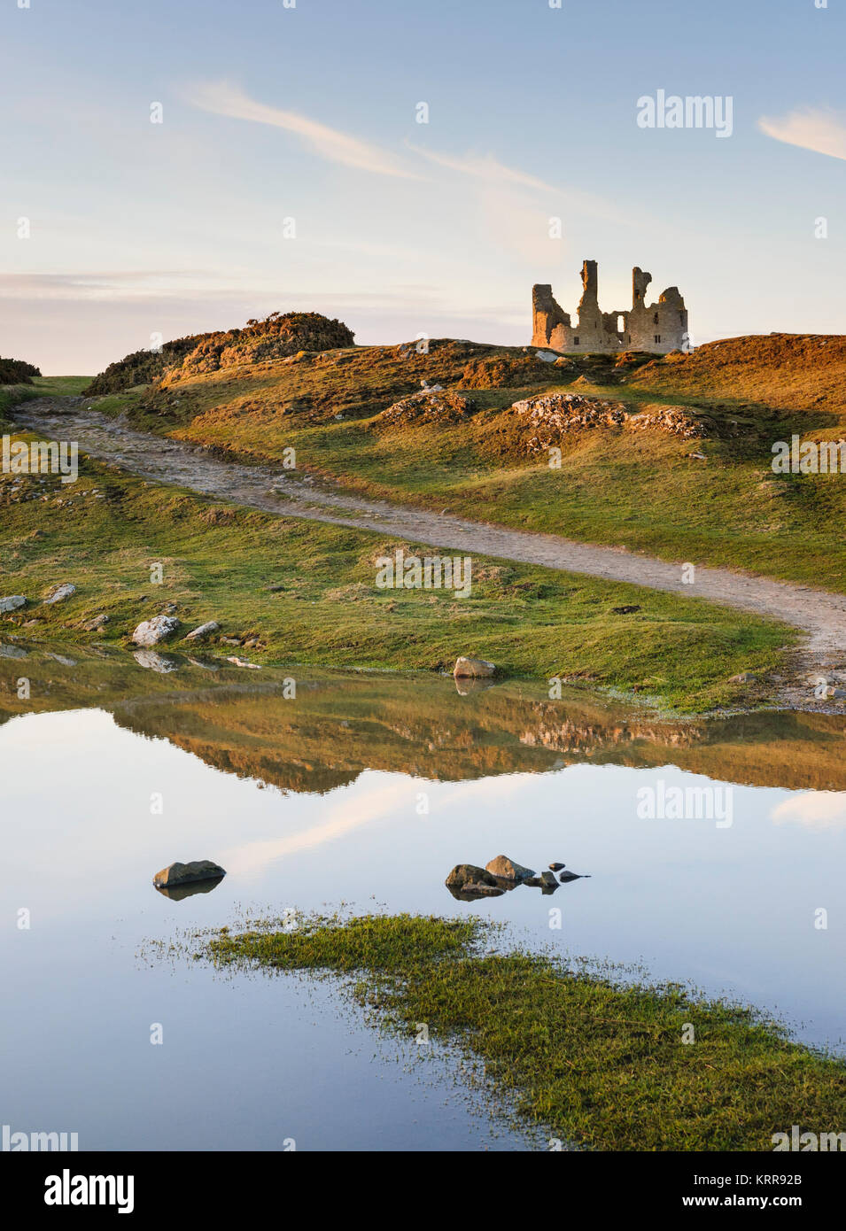 Dunstanburgh Castle Northumberland - Stock Image