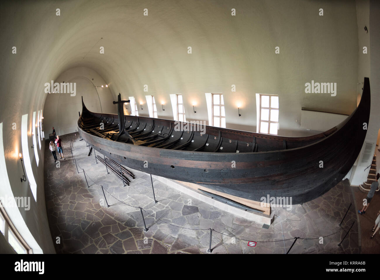OSLO, Norway - The Gokstad Ship is the largest of the Viking ships on display at the Viking Ship Museum in Oslo, - Stock Image