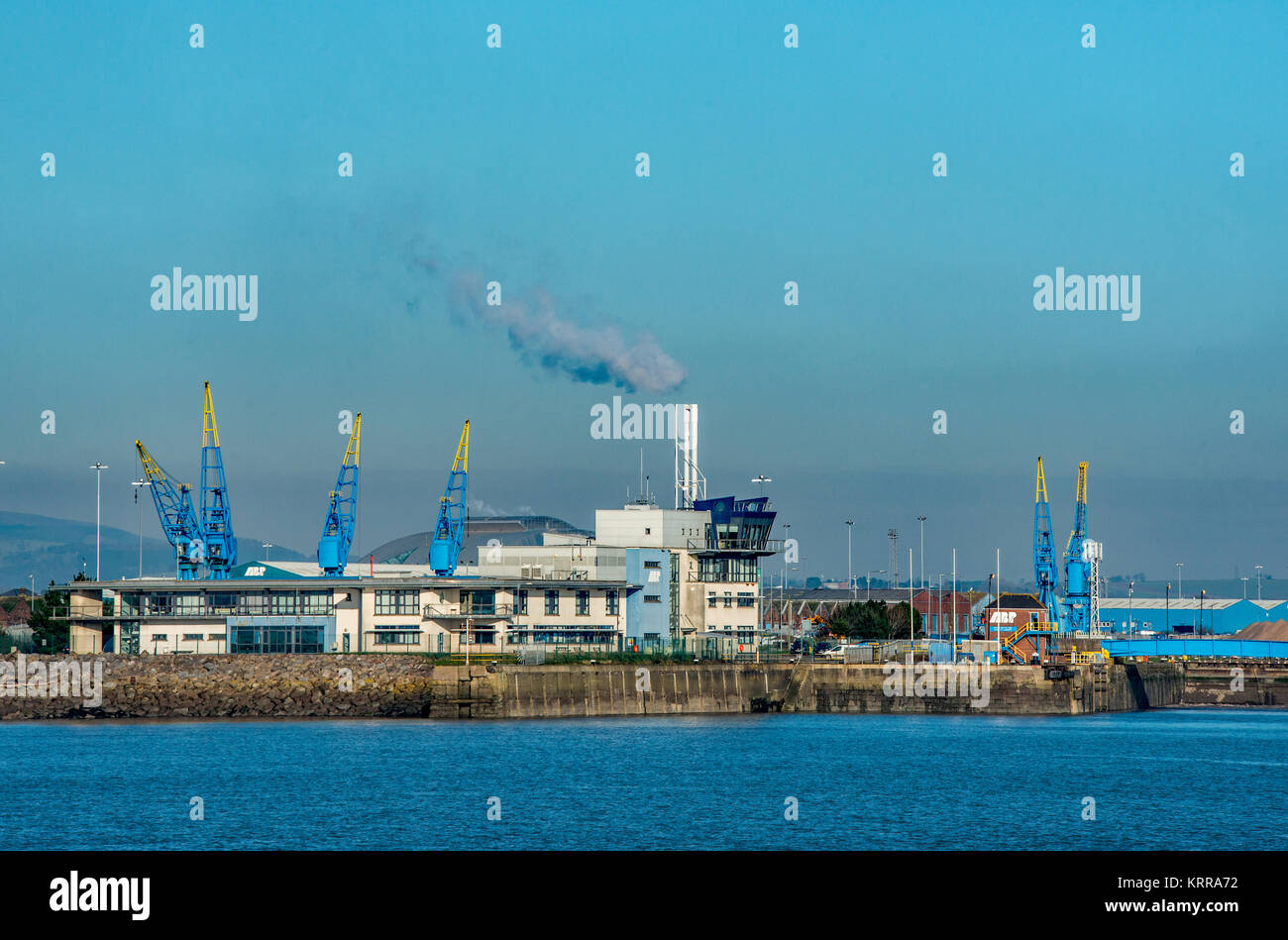 The entrance to Cardiff Docks, south Wales - Stock Image
