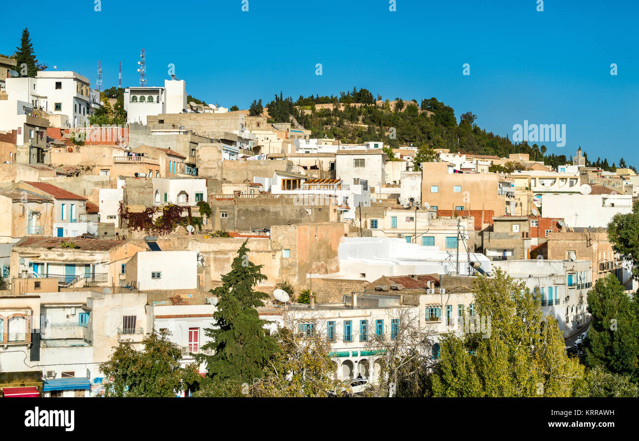 Skyline of El Kef, a city in northwestern Tunisia. Northern Africa - Stock Image