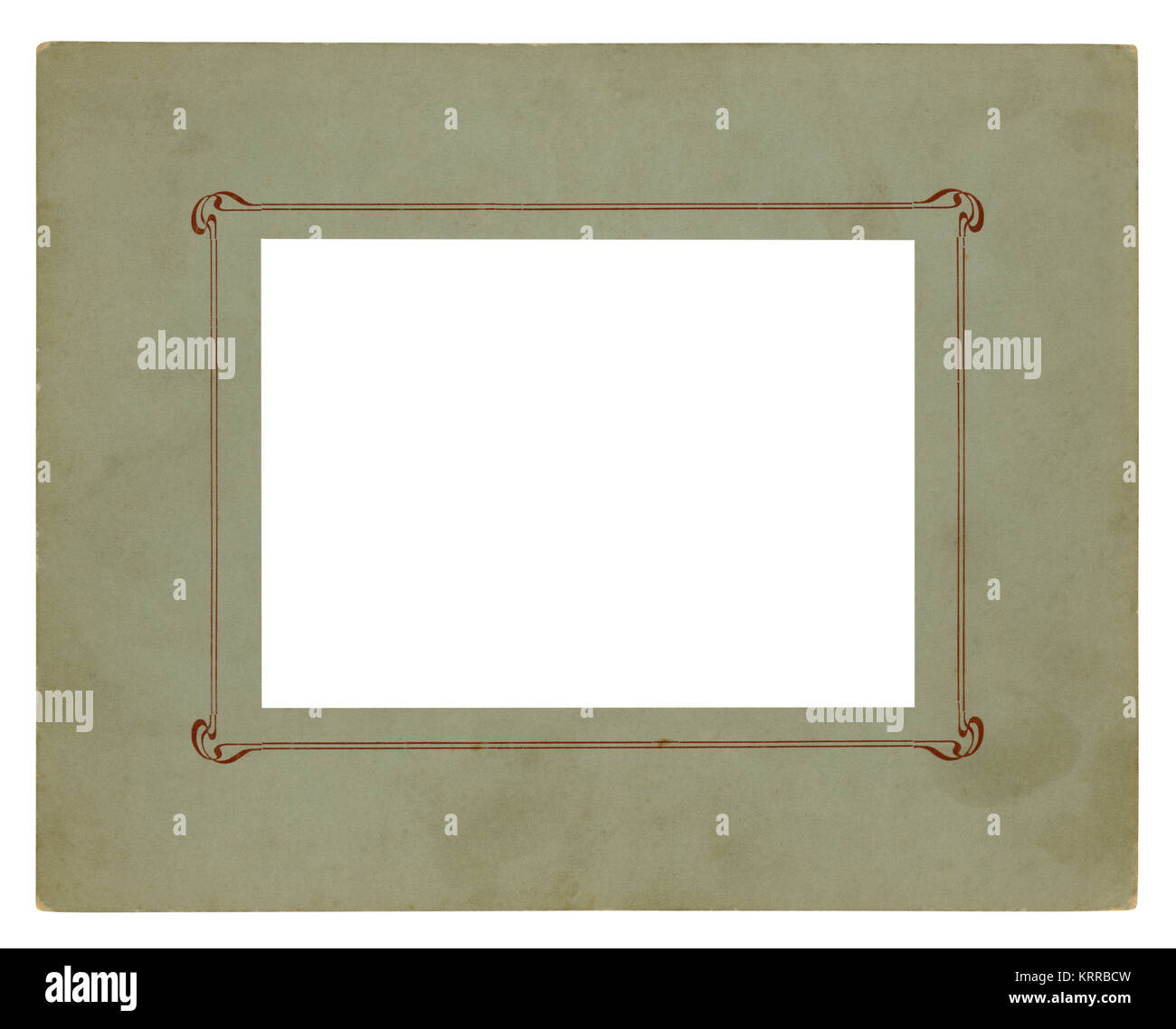 Vintage picture frame - Isolated (clipping path) - Stock Image