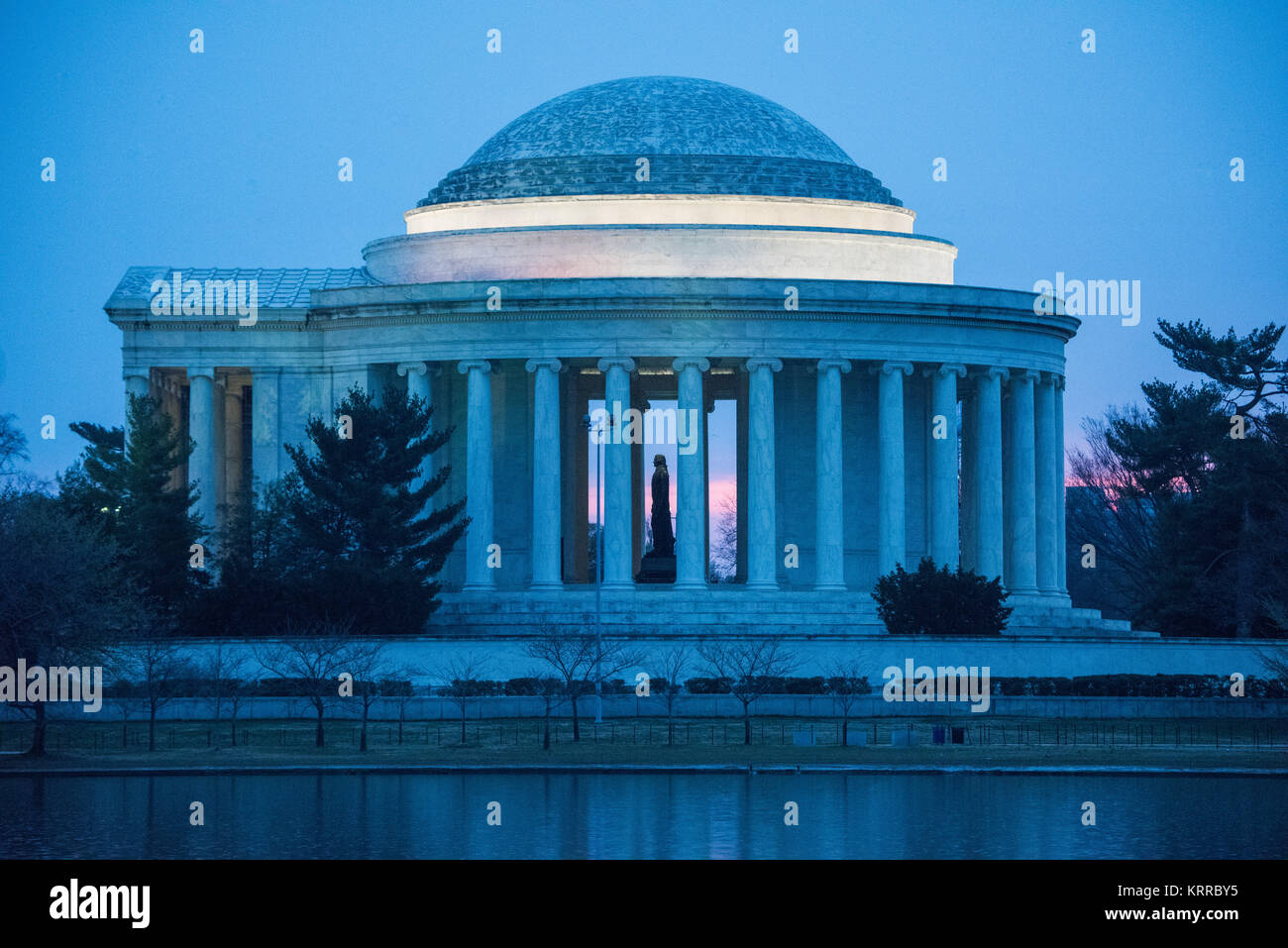 Washington DC--Opened in 1943 and designed by architect John Russell Pope, the Jefferson Memorial, dedicated to - Stock Image