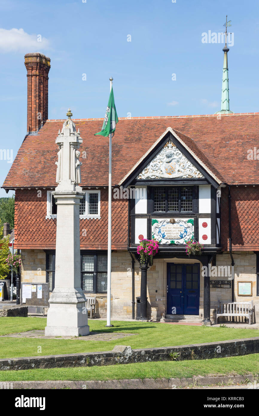 Freshfield Village Hall, Forest Row, East Sussex, England, United Kingdom - Stock Image