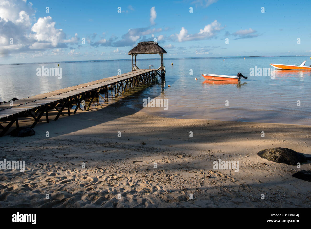 A beach at Bel Ombre, Mauritius - Stock Image