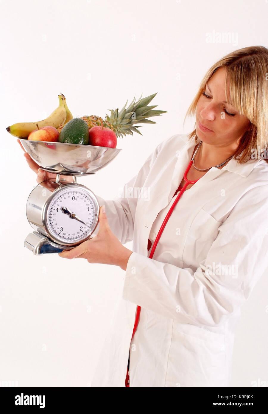 Diaetassistentin, Ernaehrungsberater - nutritionist - Stock Image