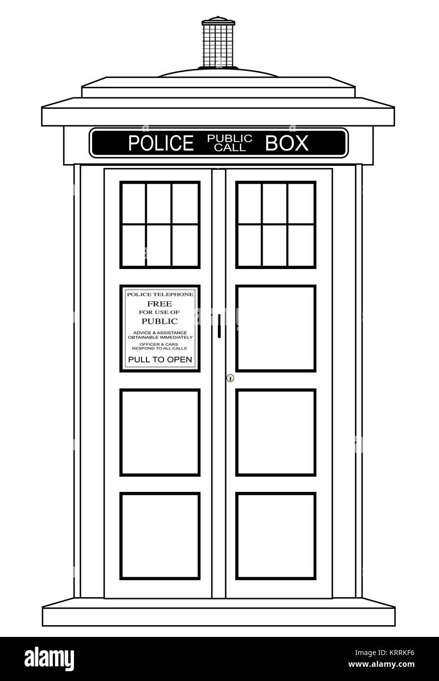 Old Fashioned British Police Box - Stock Image