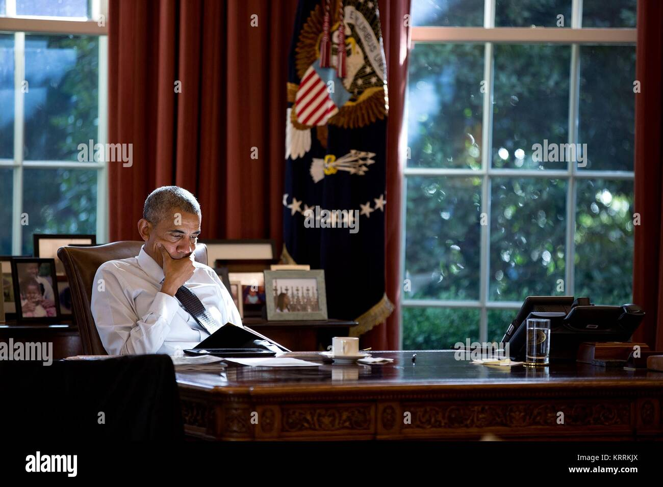 White House Oval Office Desk Stock Photos White House Oval Office