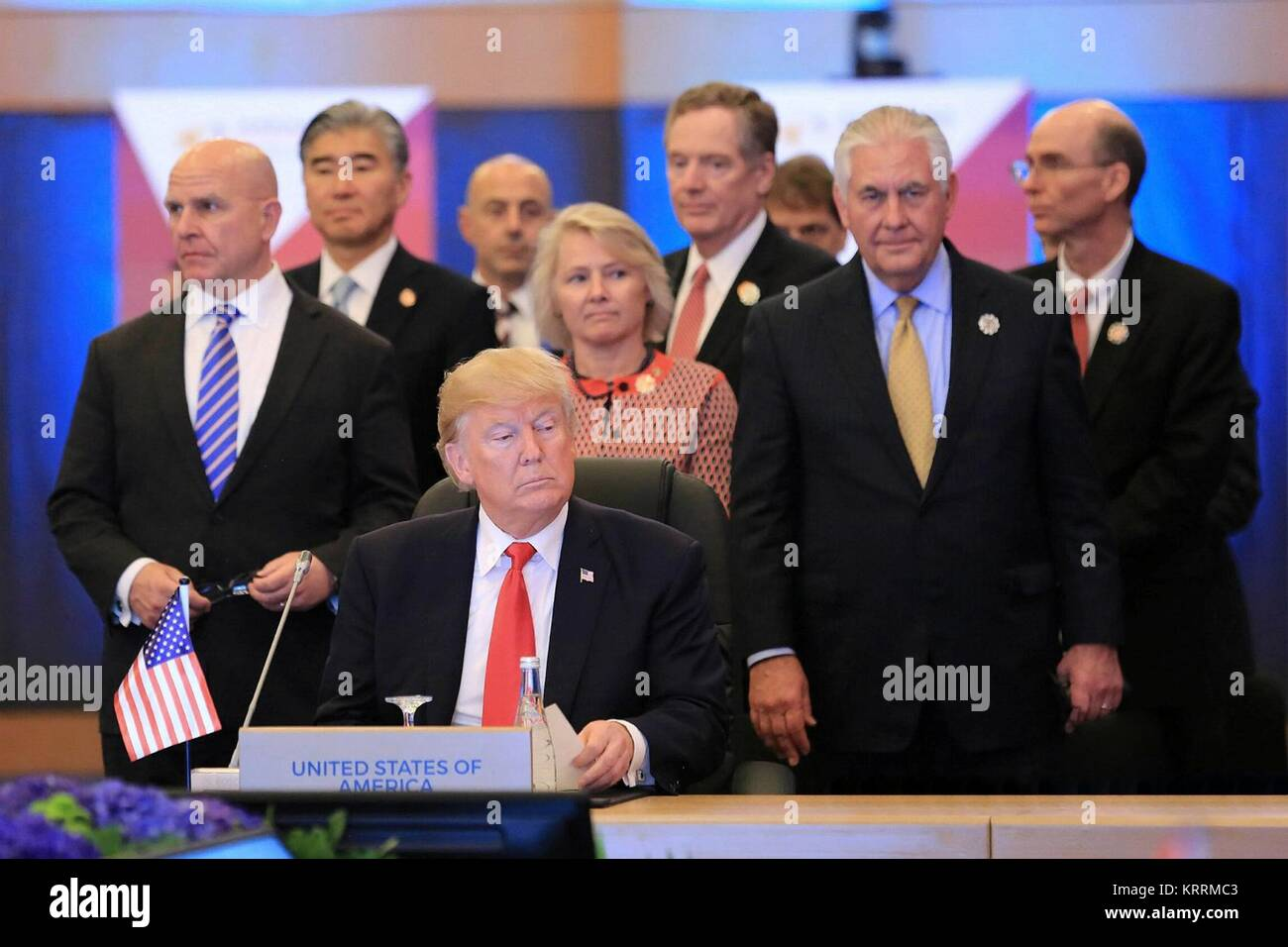 U.S. President Donald Trump attends the 5th Association of Southeast Asian Nations (ASEAN)-U.S. Commemorative Summit - Stock Image