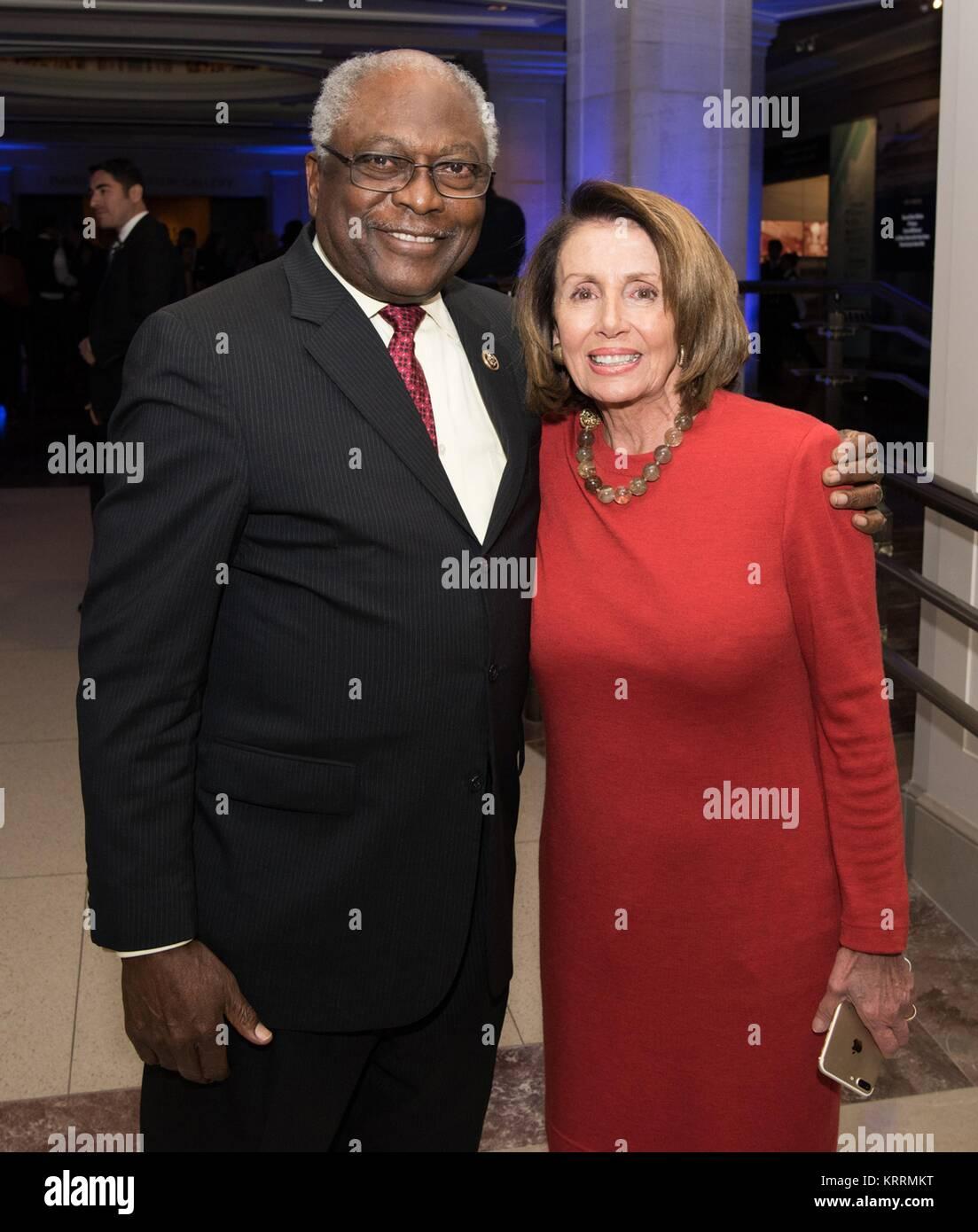 U.S. South Carolina Representative James Clyburn (left) and U.S ...