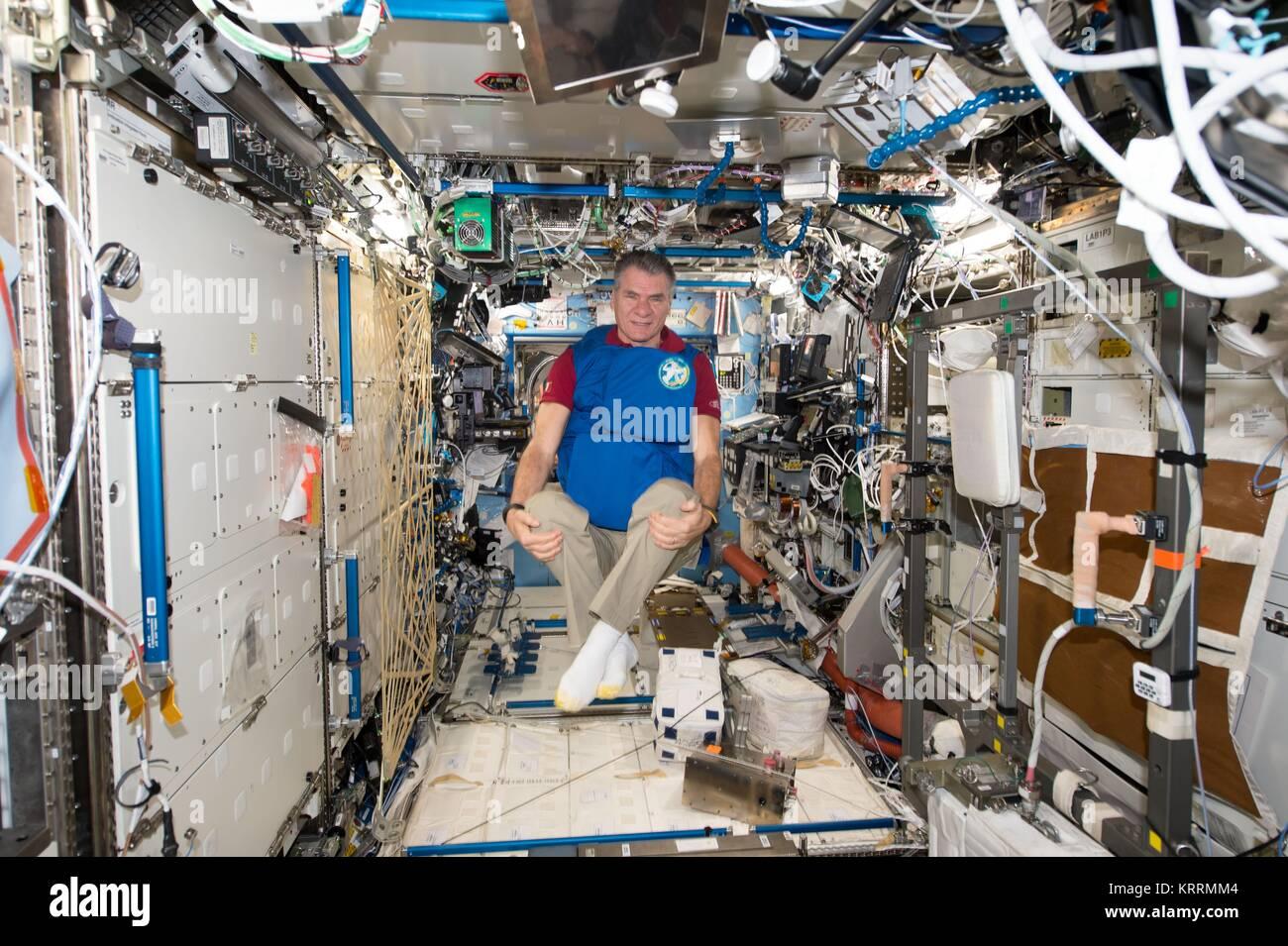 NASA International Space Station Expedition 53 prime crew member Italian astronaut Paolo Nespoli of the European Stock Photo