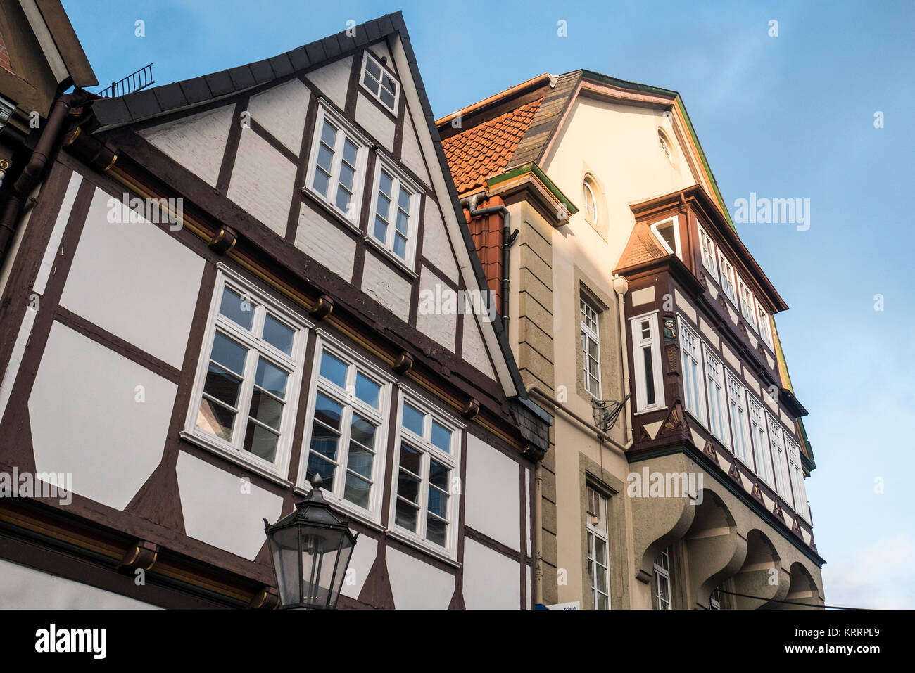 Traditional Timber Framed Buildings in Celle Germany Stock Photo ...