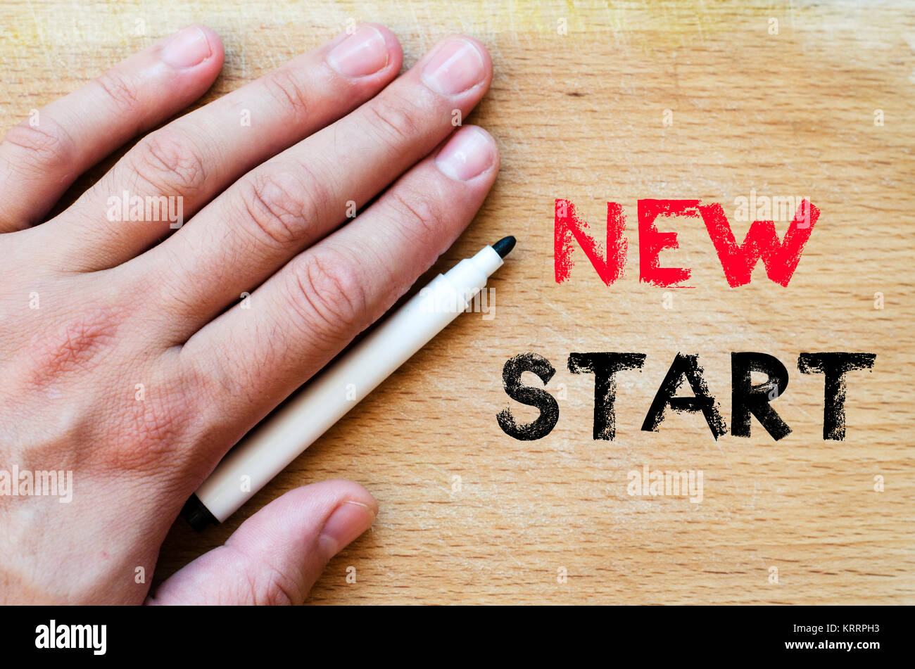New start text concept - Stock Image