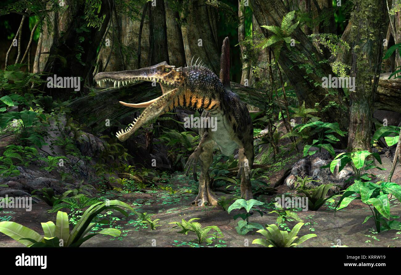 3D Rendering Dinosaur Spinosaurus - Stock Image