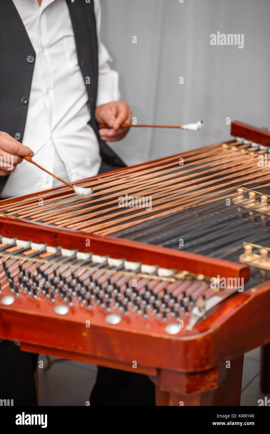 Dulcimer musical instrument Stock Photo