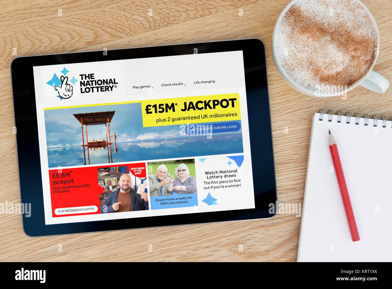 The National Lottery App Stock Photos & The National Lottery App