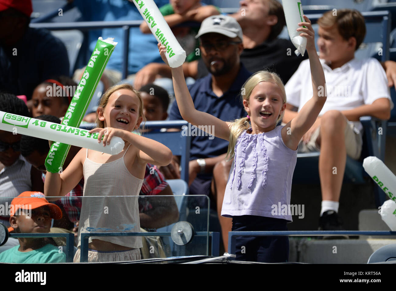 NEW YORK, NY - AUGUST 29: Atmosphere  during Arthur Ashe Kids' Day at the USTA Billie Jean King National Tennis Stock Photo