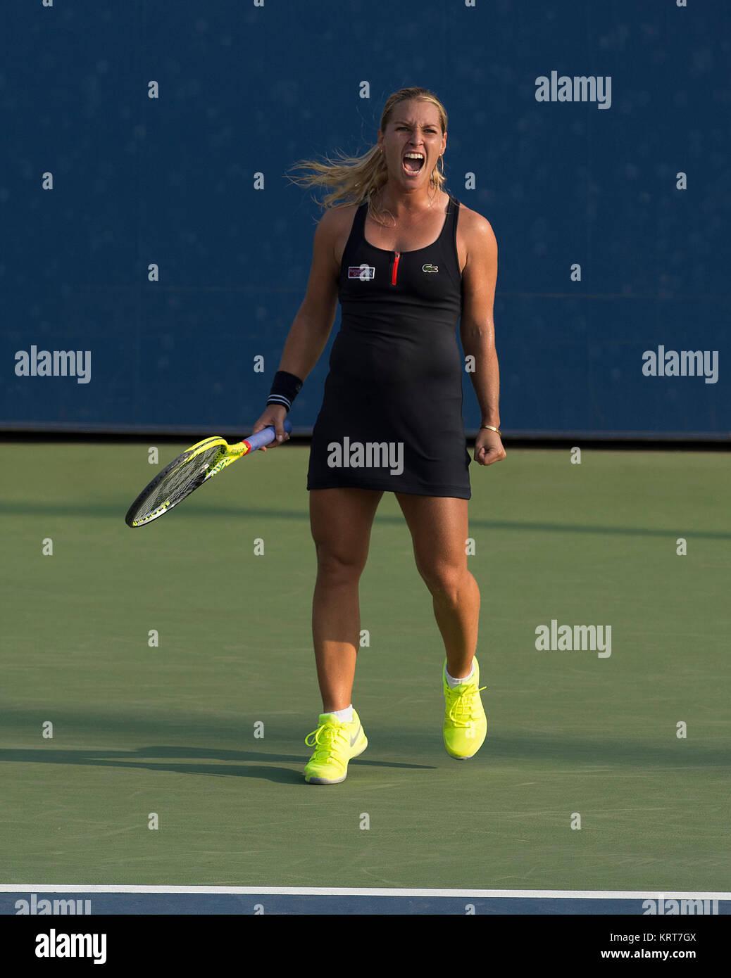 NEW YORK, NY - SEPTEMBER 02:   Dominika Cibulkova  on Day Three of the 2015 US Open at the USTA Billie Jean King Stock Photo