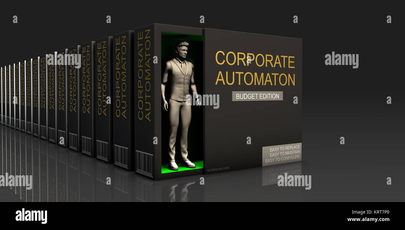 Corporate Automaton - Stock Image