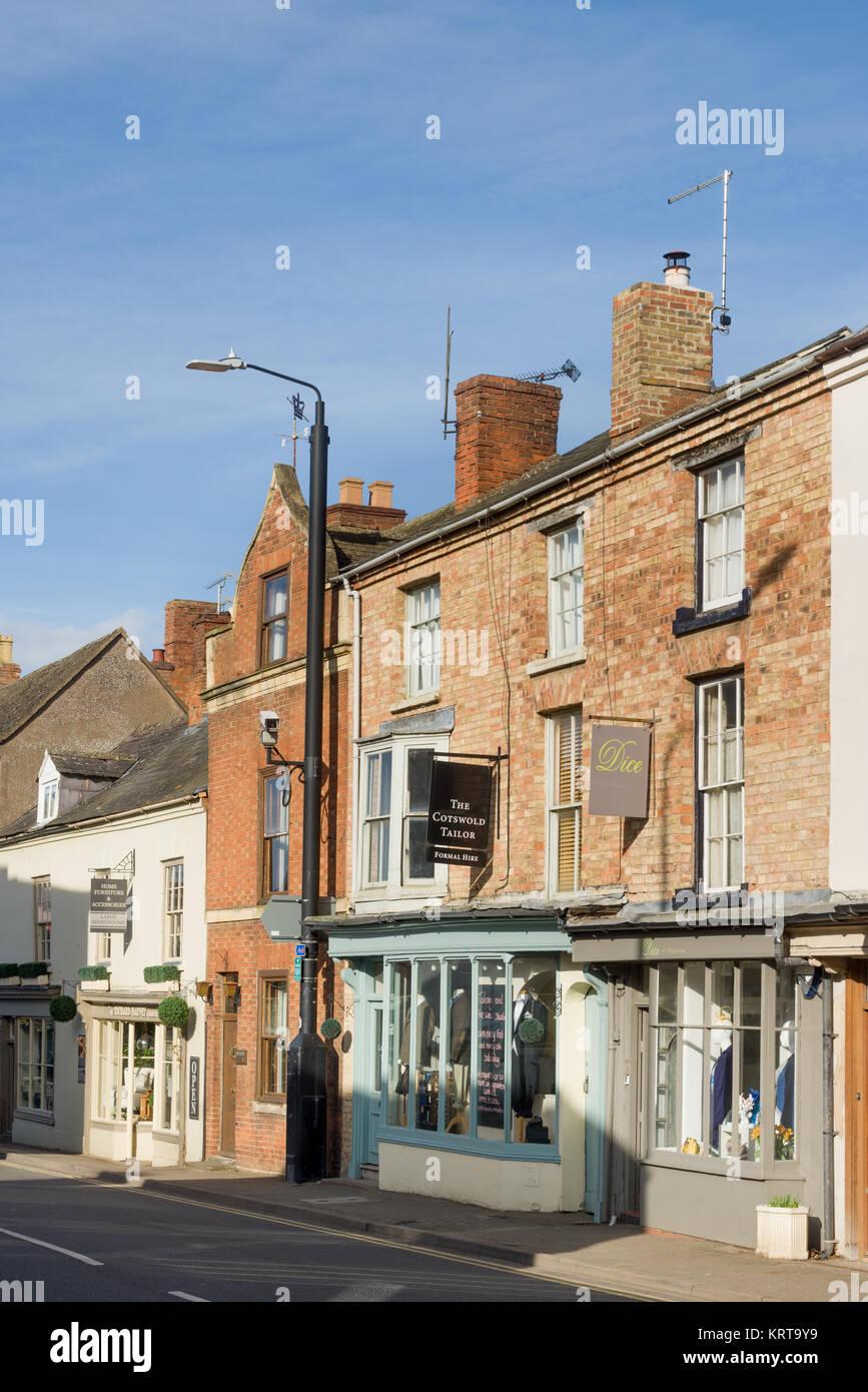 Shop fronts, Shipston-on-Stour, Warwickshire, England, UK - Stock Image