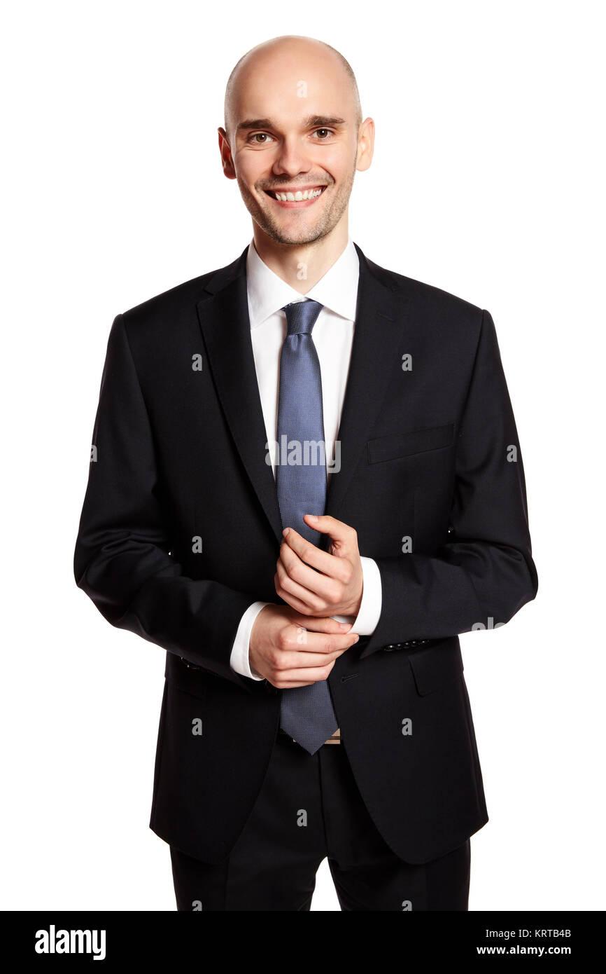 Smiling Elegant Man - Stock Image