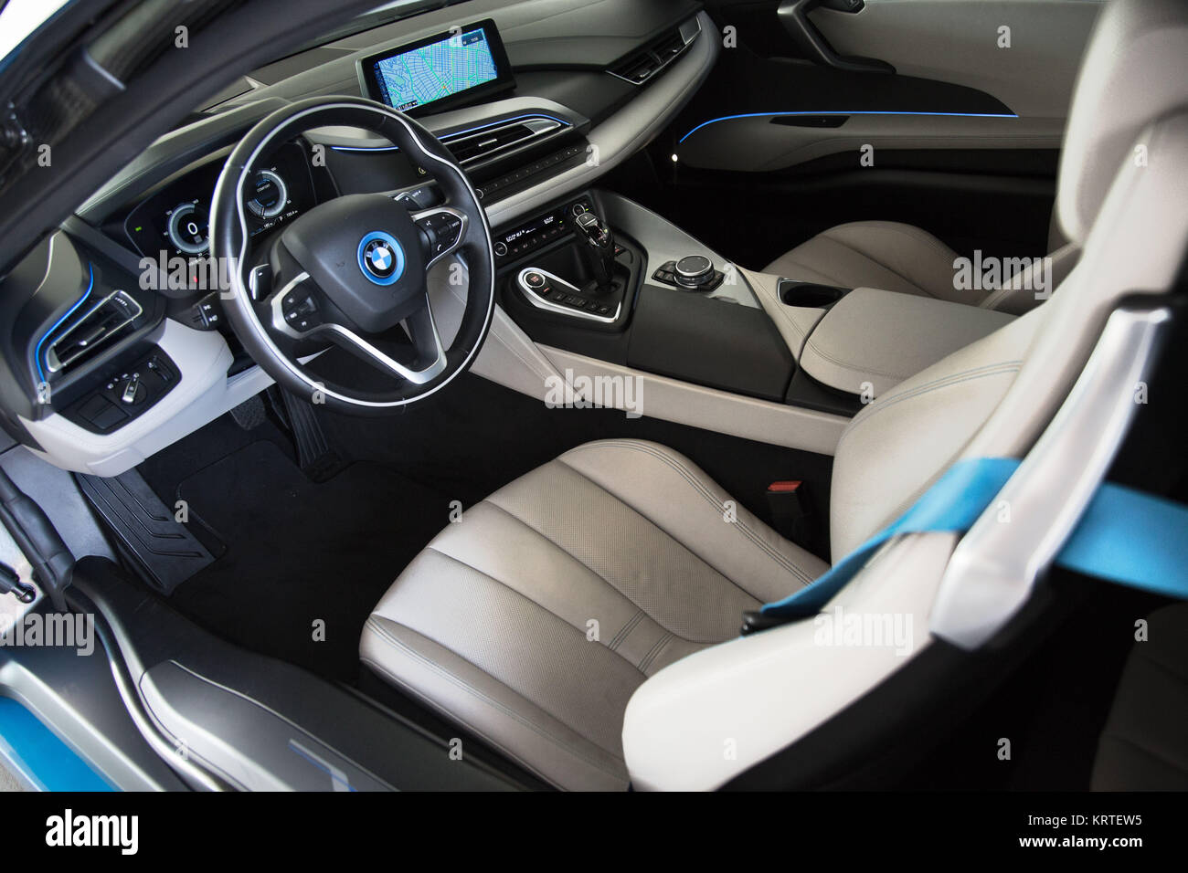 Blue Bmw I8 Stock Photos Blue Bmw I8 Stock Images Alamy