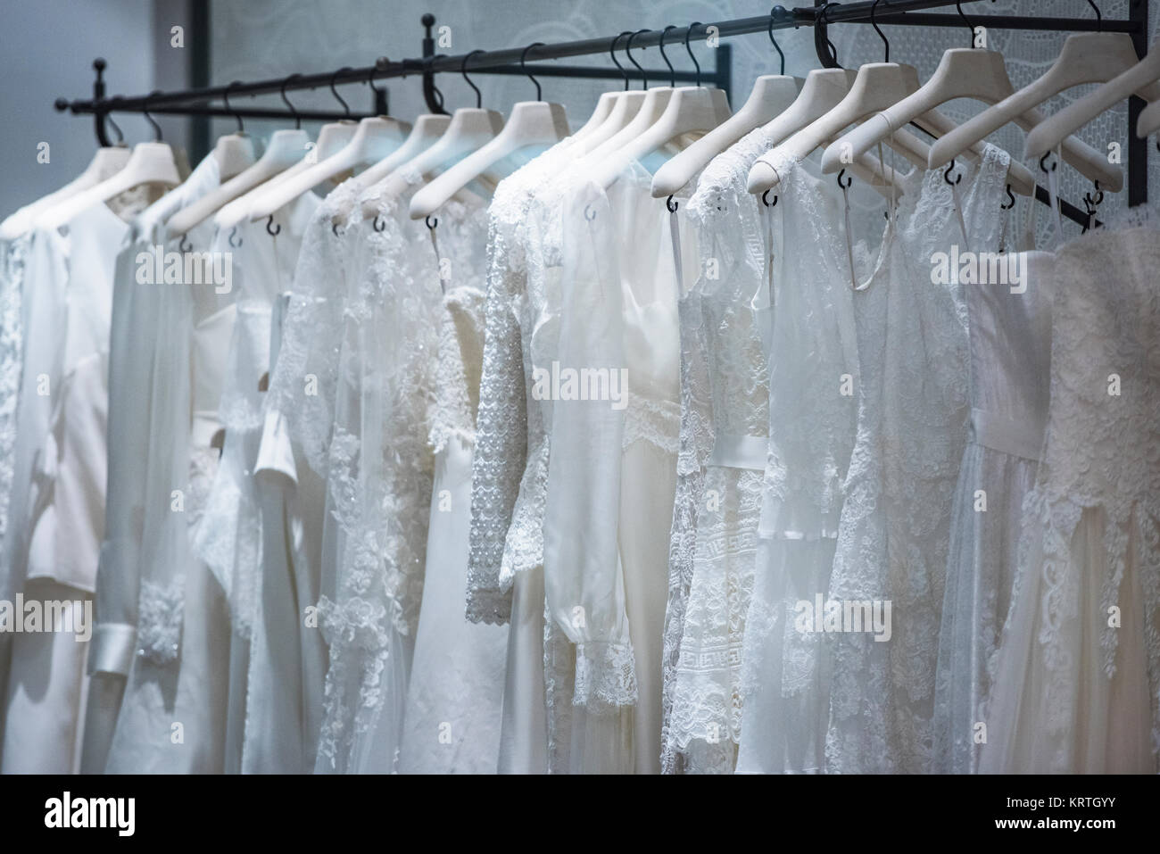 Bride Clothes Shop Wedding Dresses Stock Photos & Bride Clothes Shop ...