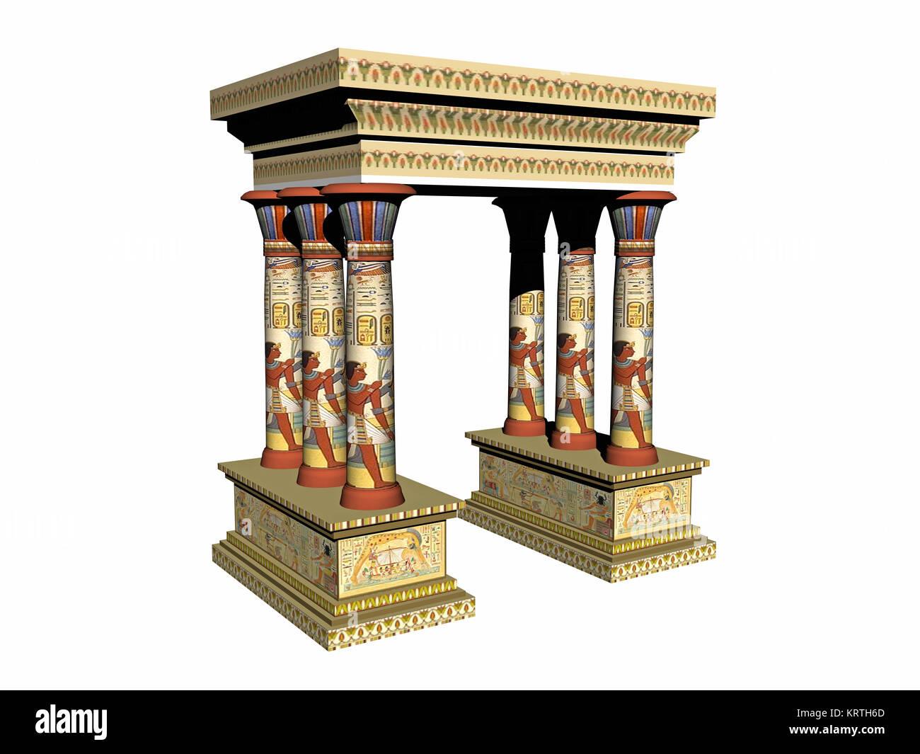 exempted egyptian arcade - Stock Image