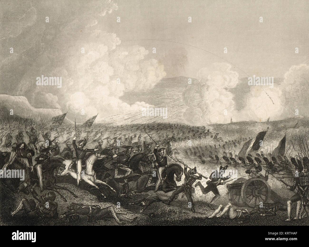The Battle of Salamanca, 22 July 1812 - Stock Image