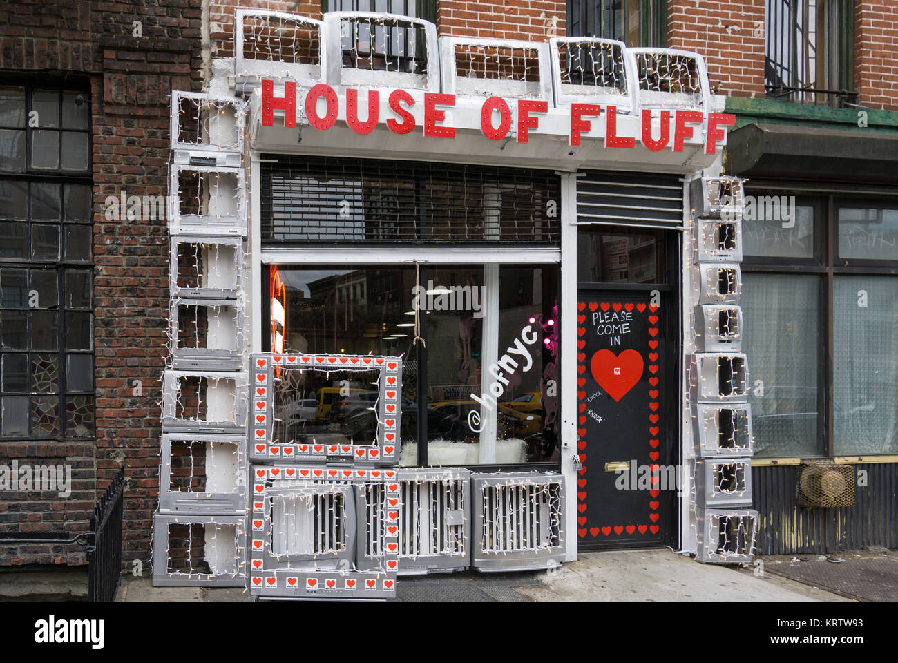 House of Fluff on the Bowery in New York City - Stock Image
