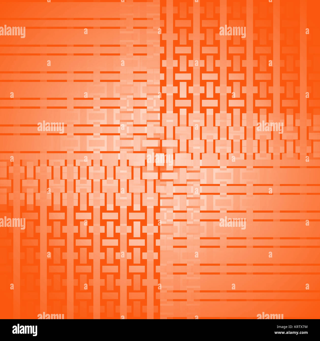 Abstract geometric seamless background single color, netting. Regular rectangles and stripes pattern in orange shades, - Stock Image