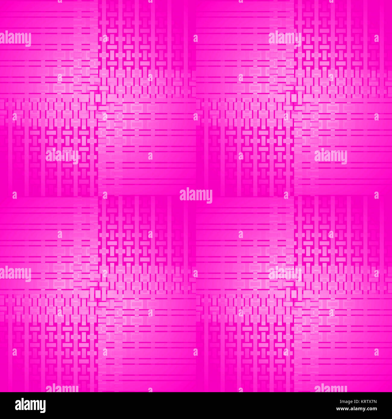 Abstract geometric seamless modern background. Regular rectangles and stripes pattern in magenta and violet shades. - Stock Image