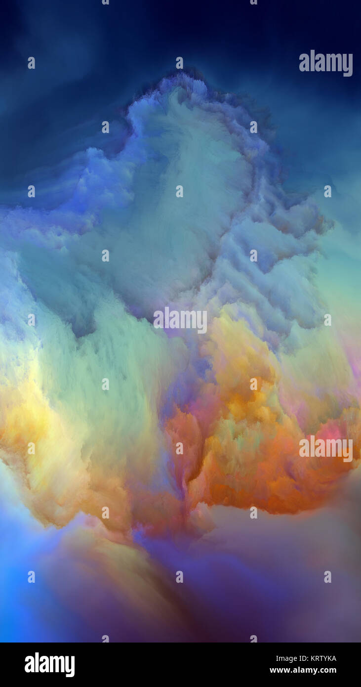 Computing Alien Atmosphere - Stock Image