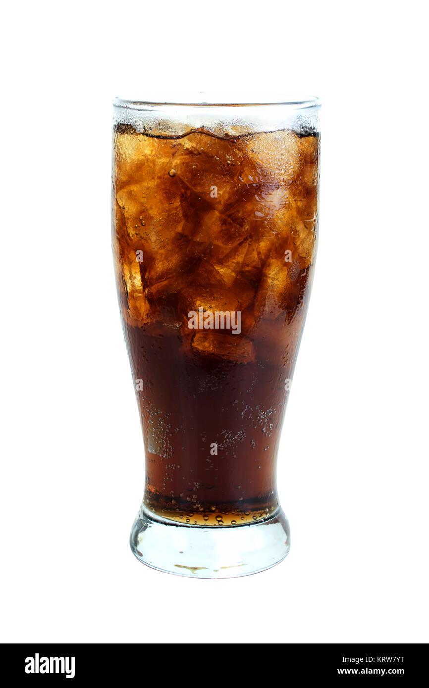 Cola in glass - Stock Image