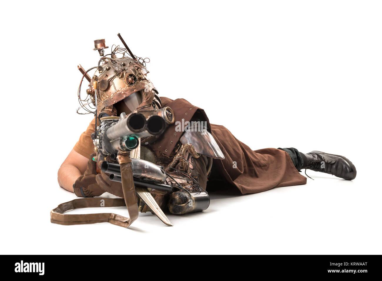 futuristic warrior - Stock Image
