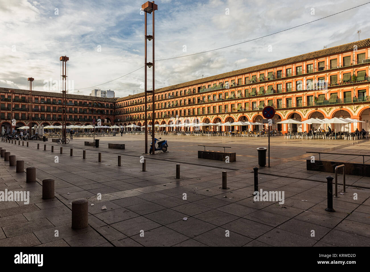 CORDOBA. SPAIN. October 28, 2015: The Plaza de la Corredera is one of the places most emblematic of the city of - Stock Image